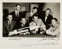 Mercury Seven Astronauts: Early NASA Group Photo Signed by All, Originally from the Collection of McDonnell's Robert McL...