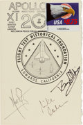 "Autographs:Celebrities, Apollo 11 Crew-Signed ""Tribute to Aerospace"" Dinner Invitation fromMay 20, 1989...."
