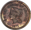 1871 5C Five Cents, Judd-1051, Pollock-1185, R.5, PR63 Red and Brown PCGS....(PCGS# 71310)