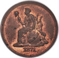 1871 10C Standard Silver Ten Cents, Judd-1075, Pollock-1211, R.7, PR63 Red and Brown PCGS....(PCGS# 71334)