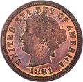 1881 5C Liberty Head Five Cents, Judd-1672, Pollock-1873, R.6-7, PR63 Red and Brown PCGS....(PCGS# 72068)