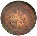 Patterns, 1871 10C Ten Cents, Judd-1087, Pollock-1223, R.7, PR60 Red and Brown ANACS....