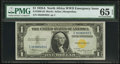 Small Size:World War II Emergency Notes, Fr. 2306 $1 1935A North Africa Silver Certificate. PMG Gem Uncirculated 65 EPQ.. ...
