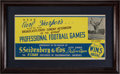 Football Collectibles:Others, 1936-37 NFL Radio Broadcast Advertising Poster Featuring Ken Strong of the New York Yankees.. ...
