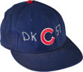 Baseball Collectibles:Hats, 2002 Sammy Sosa Game Worn Chicago Cubs Cap with Darryl KileReference & Team Letter. . ...