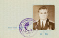 Explorers:Space Exploration, Vasily Lazarev's Soviet Flight Certificate, Essentially an International Passport....