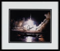 Explorers:Space Exploration, Apollo 17 Launch Astronaut Scholarship Foundation Color Photo Signed by Cernan and Schmitt in Framed Display....