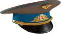 Explorers:Space Exploration, Gherman Titov's Owned and Worn Soviet Air Force Uniform Hat, Signed. ...