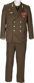 Explorers:Space Exploration, Gherman Titov's Owned and Worn Soviet Air Force Colonel General's (Three Star) Uniform with Coat, Pants, Shirt, and Tie, S... (Total: 4 Items)