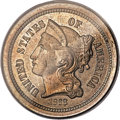 Patterns, 1868 3C Three Cent Nickel, Judd-615A, Pollock-681, High R.7, PR64 PCGS....