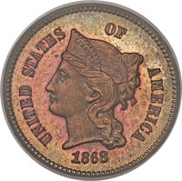1868 1C One Cent, Judd-609, Pollock-674, High R.7, PR64 Red and Brown PCGS....(PCGS# 70821)