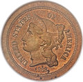 Patterns, 1868 3C Three Cent Nickel, Judd-616, Pollock-682, High R.6, PR63 Red and Brown NGC....