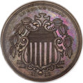 Patterns, 1866 5C Shield Five Cents, Judd-490, Pollock-578, Low R.7, PR65 Brown NGC....