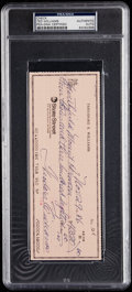 Autographs:Others, 1986 Ted Williams Signed Check, PSA/DNA Authentic.. ...