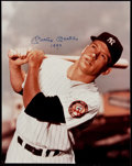 "Autographs:Photos, Mickey Mantle ""1952"" Signed Oversized Photograph. . ..."
