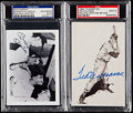 Autographs:Post Cards, Mickey Mantle/Vic Raschi and Ted Williams Signed Photograph and Postcard.. ...