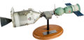 Explorers:Space Exploration, Apollo-Soyuz Test Project: Rockwell 1/50 Scale Contractor's Model on Base.'...