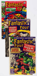 Silver Age (1956-1969):Superhero, Fantastic Four #25, 47, and 89 Group (Marvel, 1964-69) Condition: Average GD/VG.... (Total: 3 Comic Books)