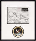Explorers:Space Exploration, Apollo 11 Crew-Signed Rescue Photo with Novaspace COA, in Framed Display. ...