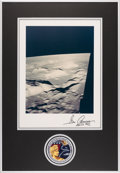 Explorers:Space Exploration, Gene Cernan Signed Large Apollo 17 Lunar Surface Color Photo Originally from His Personal Collection with Novaspace Certificat...