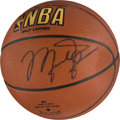 Basketball Collectibles:Balls, Circa 1990 Michael Jordan Signed Basketball. . ...