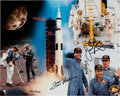 Explorers:Space Exploration, Apollo 13 Limited Edition Astronaut Scholarship Foundation Color Print, #292/300, Signed by Lovell and Haise, with ASF COA. ...