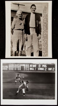 Baseball Collectibles:Photos, New York Yankees Type IV Photograph Lot of 4 with Huggins and Larsen. . ...