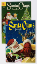 Golden Age (1938-1955):Miscellaneous, Four Color #525 and 666 Santa Claus Funnies Group (Dell, 1953-55) Condition: Average VF-.... (Total: 2 Items)