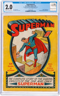 Golden Age (1938-1955):Superhero, Superman #1 (DC, 1939) CGC GD 2.0 Cream to off-white pages....
