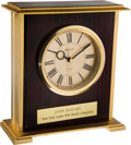 Football Collectibles:Others, 1956 New York Giants World Champions Clock Presented to John Dziegiel. ...