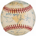 Autographs:Baseballs, Baseball Greats Multi-Signed Baseball with Aaron, Berra, Bench,& others (19 Signatures).. ...