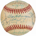 Autographs:Baseballs, Baseball Greats Multi-Signed Baseball with Ripken, Boggs, Gibson, Schmidt, & Others (26 Signatures).. ...