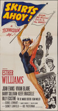 """Movie Posters:Comedy, Skirts Ahoy! (MGM, 1952). Three Sheet (41"""" X 79""""). Comedy.. ..."""