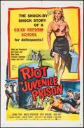 """Movie Posters:Exploitation, Riot in Juvenile Prison (United Artists, 1959). One Sheet (27"""" X41""""). Exploitation.. ..."""