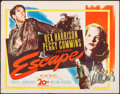 "Movie Posters:Thriller, Escape (20th Century Fox, 1948). Half Sheet (22"" X 28""). Thriller.. ..."