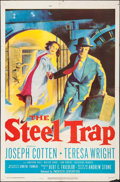 "Movie Posters:Crime, The Steel Trap (20th Century Fox, 1952). One Sheet (27"" X 41"").Crime.. ..."