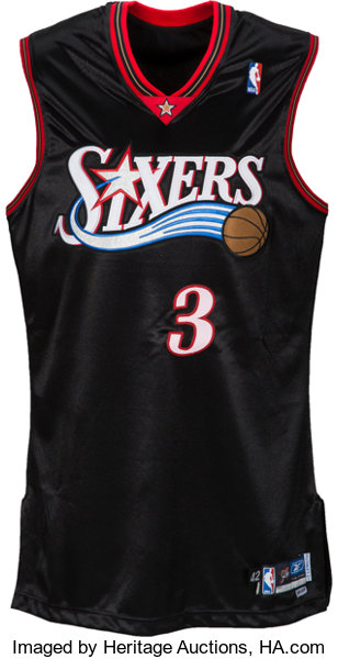 reputable site 8d1d5 e5a9b 2004-05 Allen Iverson Game Worn Philadelphia 76ers Jersey ...