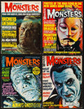 """Movie Posters:Horror, Famous Monsters of Filmland (Warren Publishing, 1964-1967). Magazines (4) (Multiple Pages, 8.5"""" X 11.5""""). Horror.. ... (Total: 4 Items)"""