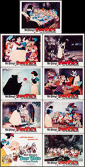 """Movie Posters:Animation, Snow White and the Seven Dwarfs (Buena Vista, R-1967). Lobby Card Set of 9 (11"""" X 14""""). Animation.. ... (Total: 9 Items)"""