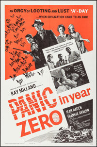 "Panic in Year Zero (American International, 1962). One Sheet (27"" X 41"") Style A. Science Fiction"