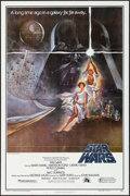 """Movie Posters:Science Fiction, Star Wars (20th Century Fox, 1977). Second Printing One Sheet (27"""" X 41"""") Style A, Tom Jung Artwork. Science Fiction.. ..."""
