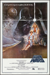 "Star Wars (20th Century Fox, 1977). Second Printing One Sheet (27"" X 41"") Style A, Tom Jung Artwork. Science F..."