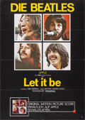 "Movie Posters:Rock and Roll, Let It Be (United Artists, 1970). German A1 (23.25"" X 33""). Rockand Roll.. ..."