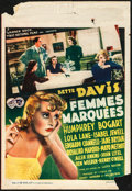"Movie Posters:Crime, Marked Woman (Warner Brothers, 1937). Pre-War Belgian (10.5"" X 15.5""). Crime.. ..."