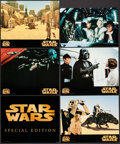 "Movie Posters:Science Fiction, Star Wars (20th Century Fox, R-1997). Special Edition Jumbo DeluxeTitle Lobby Card & Lobby Cards (4) (16"" X 20""), Trimmed J...(Total: 7 Items)"