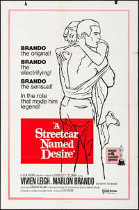 """A Streetcar Named Desire (United Artists, R-1970s). International One Sheet (27"""" X 41"""") & Mexican Lobby Ca..."""