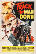 Movie Posters:Crime, Track the Man Down (Republic, 1955). Folded, Very Fine-.