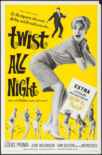 "Twist All Night (American International, 1962). One Sheet (27"" X 41""). Rock and Roll"