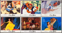 "Beauty and the Beast (Warner Brothers, 1991). Very Fine. French Color Photo Set of 12 (9"" X 11.25"") with Origi..."