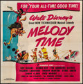 "Movie Posters:Animation, Melody Time (RKO, 1948). Six Sheet (79"" X 80""). Animation.. ..."